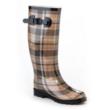 Henry Ferrera Dry Stone Women's Water-Resistant Plaid Rain Boots/