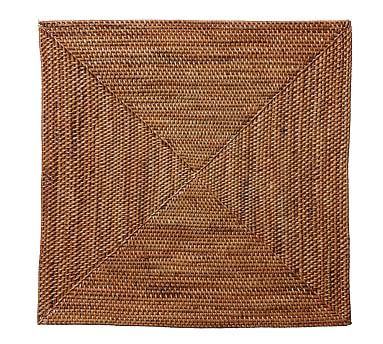 Tava Handwoven Rattan Square Placemat Colorful