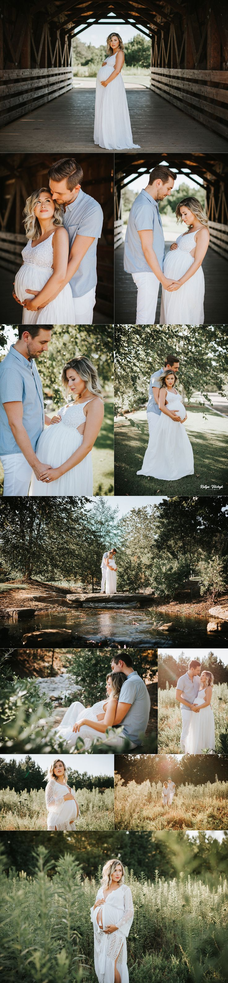 I love this sweet, romantic belly shoot! Such pretty photography and her belly i…