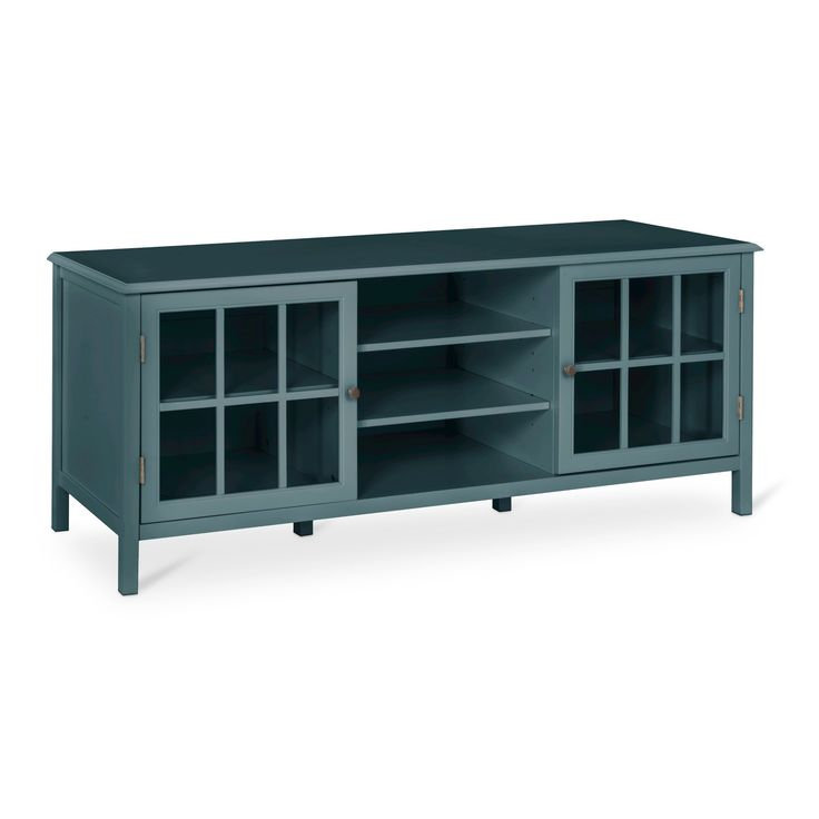 Windham Large TV Stand Blue Overcast - Threshold, Blue/Overcast