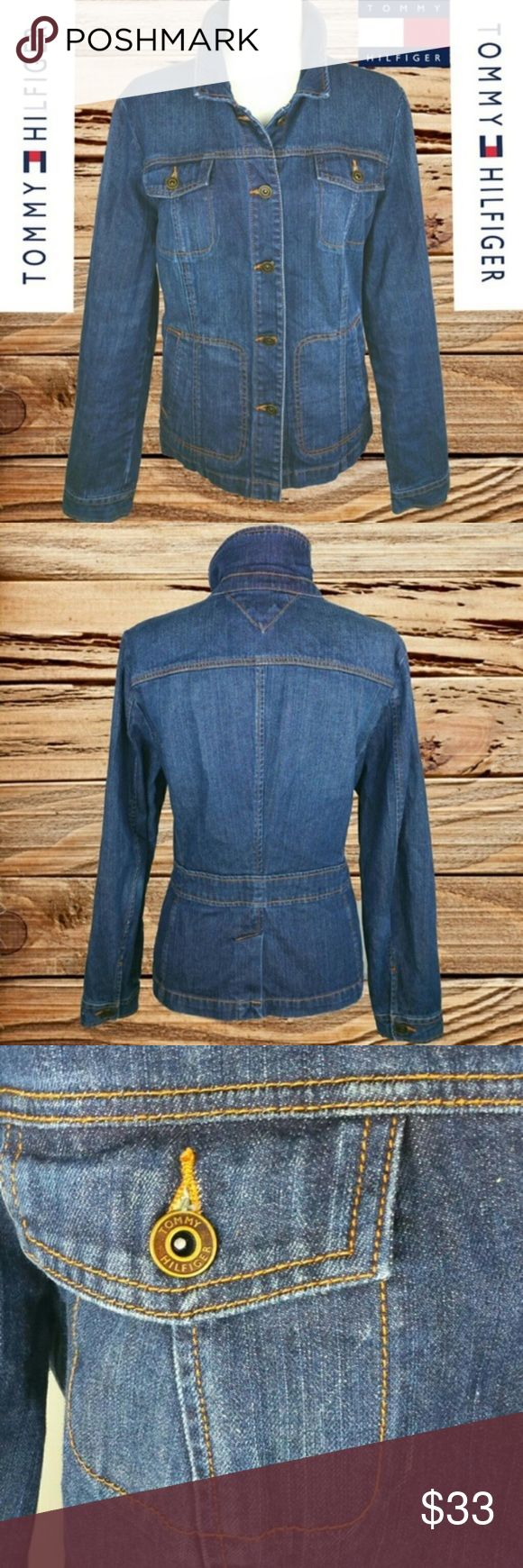 TOMMY HILFIGER - VINTAGE DENIM JACKET! ❤️ TOMMY HILFIGER - VINTAGE DENIM JACKET!  EVERY ITEM IS DRY CLEANED!  EVERY ITEM IS WRAPPED!  OFFERS ALWAYS WELCOME! :)  BUY TWO OR MORE ITEMS AND SAVE 10%!! Jackets & Coats