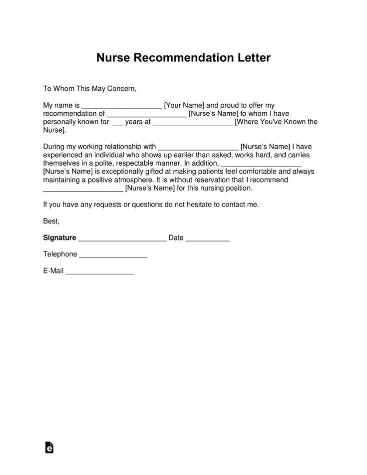 16+ Nursing letter of recommendation new grad ideas in 2021