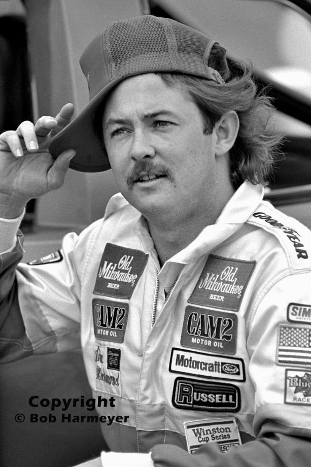 Tim Richmond spoofs photographers after qualifying for the 1983 Daytona 500. Richmond's flashy personality didn't fit well with NASCAR management of that era, but likely would be a welcome addition to the series' driver line-up today.