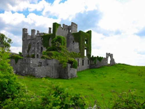 CLIFDEN CASTLE, GALWAY, IRELAND.  I had an opportunity to see this in person and it was magical.  Of course I can't recall the history of it that made it soimpressive at this moment.