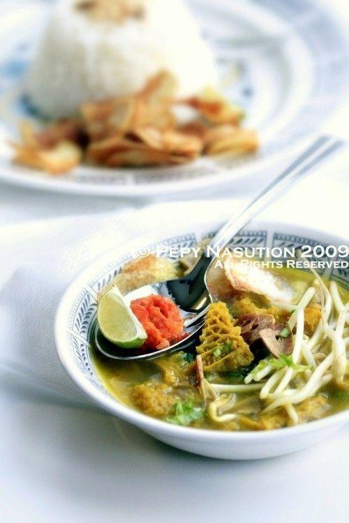 Indonesian beef tripe stew (soto babat)