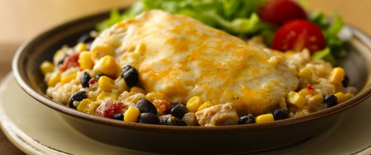 Cheesy Chicken and Rice Casserole Jump-start a deliciously easy dinner with a can of Progresso® soup!