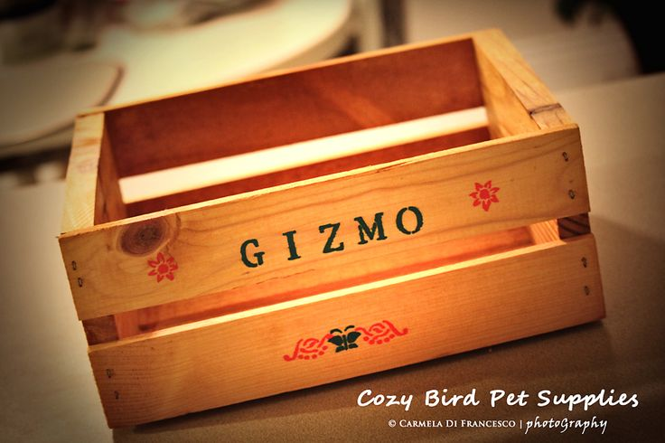 Personalized wooden crate toy box