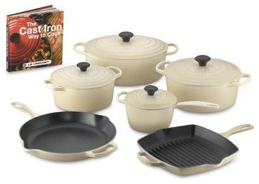 Le Creuset Signature 10-Piece Cookware Set with Book traditional-cookware