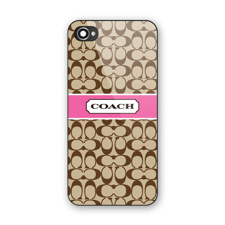 Most Coach Pattern Pink Ribbon For iPhone 7 Print On Hard Plastic Case Cover #UnbrandedGeneric
