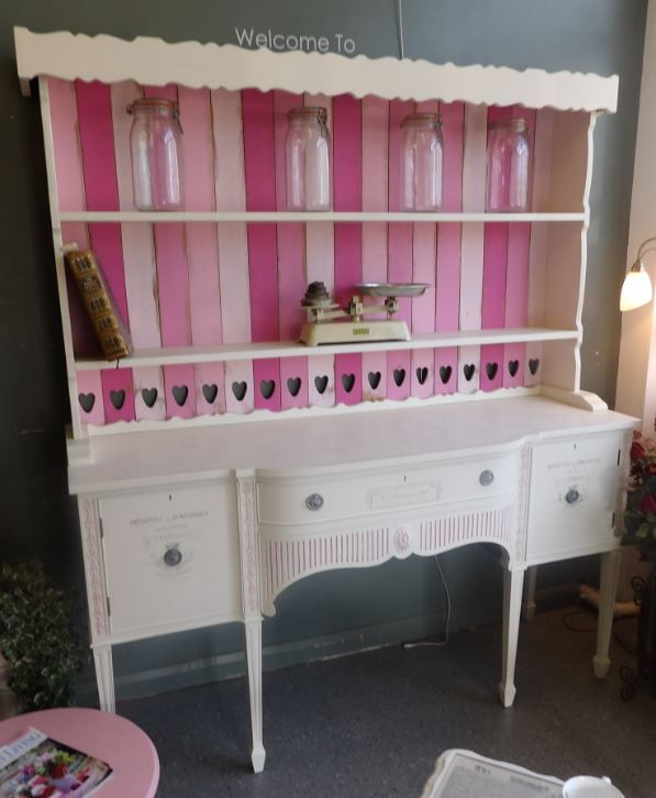 Stunning painted dresser, faux French Patisserie display cabinet,  £495  ----------- The RGF Restoration Team is the South East's leading furniture up-cycling company. Our skills include upholstery, restoration, and paint effect including shabby chic, farmhouse distress and French provincial.