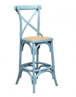cross back bar stool blue a block and chisel product