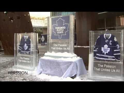 We put Leafs jerseys in ice and this is what happened.