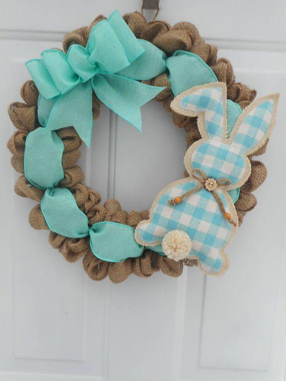 Easter burlap wreath Burlap Easter wreath Easter bunny wreath