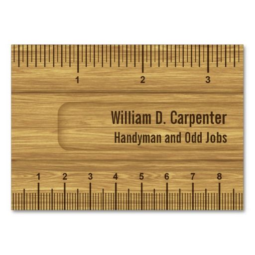 320 best carpenter business cards images on pinterest business wooden ruler or rule builder or carpenter business card accmission Image collections