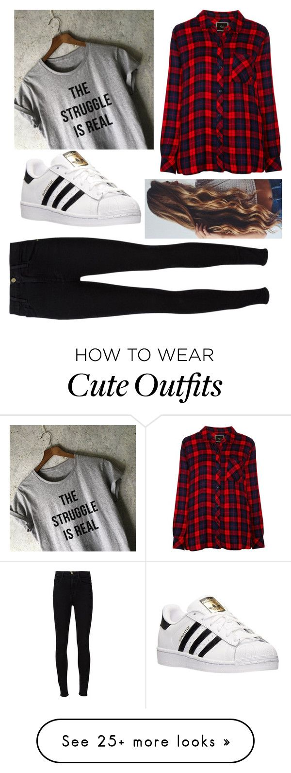 """""""I really want this outfit!"""" by naomi-esperanza on Polyvore featuring Rails, Frame Denim and adidas"""