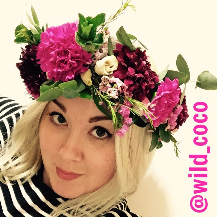 flower crown circlet made by Wild Coco Floral Design in Kent, UK - awesome floral styling for wedding, events and occasions.  #flowercrown #circlet #londonflorist #kentflorist #carnations #bloom #mint #waxflower #lisianthus #statice