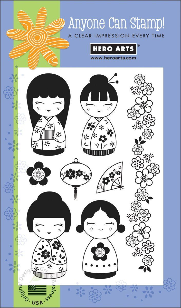 Amazon.com: Poly Clear Stamps: 4 Dolls: Arts, Crafts & Sewing