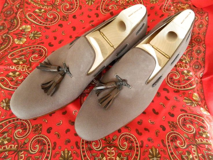Canvas tassel loafers