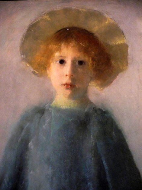 Olga Boznańska, Girl with a white handkerchief / Dziewczynka z biala chusteczka, 1890-93