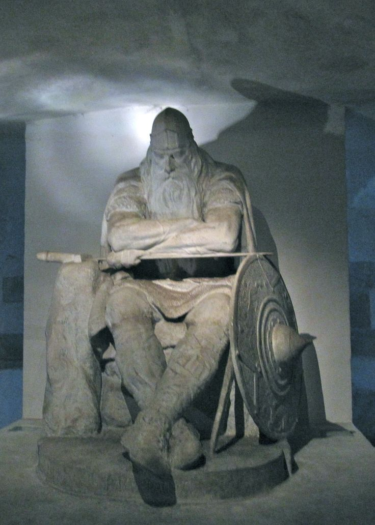 Holger Dansk.  An ancient Danish prince who fought for his country and is sleeping until Denmark has need of him again.
