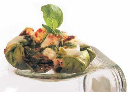Lasagne di verdure e burrata al pesto leggero - Ricetta