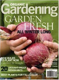 Organic Gardening Magazine: 2-yrs for 5.00! #gardening