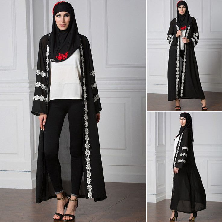 Women Abaya Kaftan Muslim Dubai Cardigan Open Cocktail Chiffon Long Dresses Robe