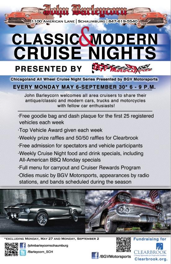 Monday Night Cruise In at John Barleycorn Schaumburg   5/13/2013