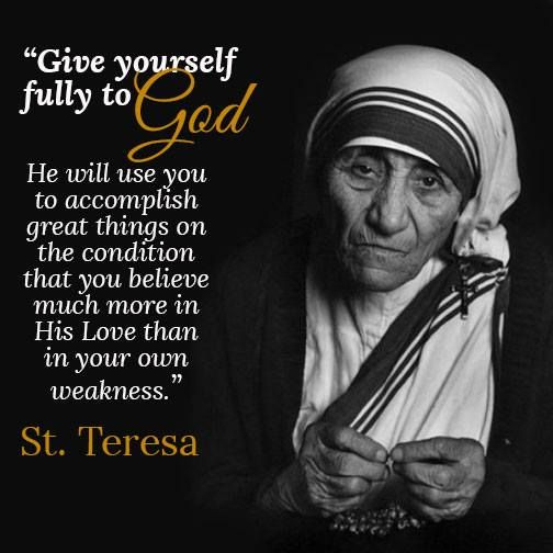 Quote From Mother Teresa: 198 Best Blessed Mother Teresa Images On Pinterest