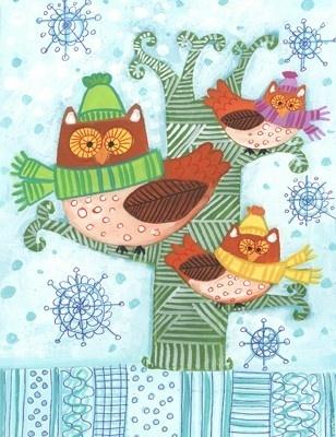 'Winter Owls' by Kay Widdowson