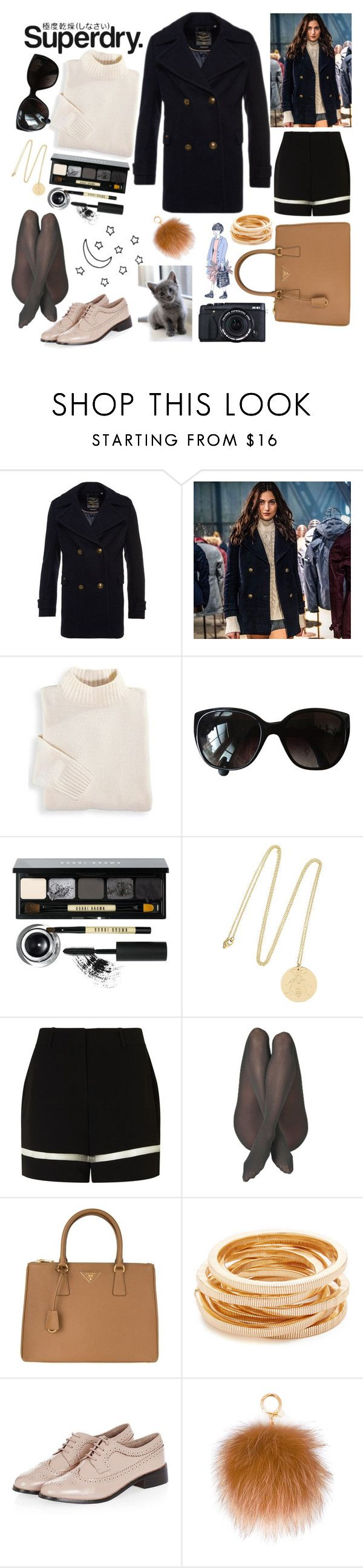 """""""The Cover Up – Jackets by Superdry: Contest Entry"""" by bartivana ❤ liked on Polyvore featuring Superdry, Blair, Chanel, Bobbi Brown Cosmetics, Philippa Holland, Alexander Wang, Prada, Kenneth Jay Lane, Topshop and Fujifilm"""