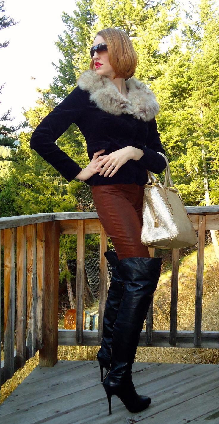 Thigh High Boots, YSL and Fur | blog fashion | Pinterest ...