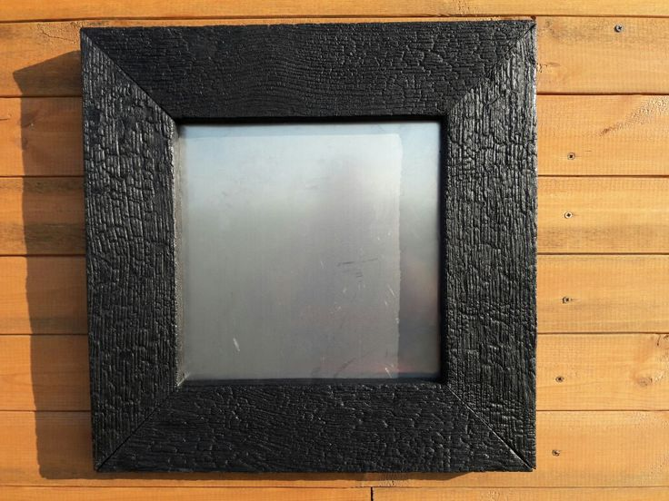 Shou sugi ban frame for mirror,  painting or picture.  Www.piunature.com