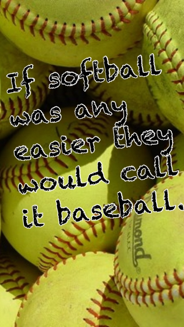 i love baseball too (I have played it) and in some ways it is more challenging but if youve ever played softball you'd understand. Softball❤