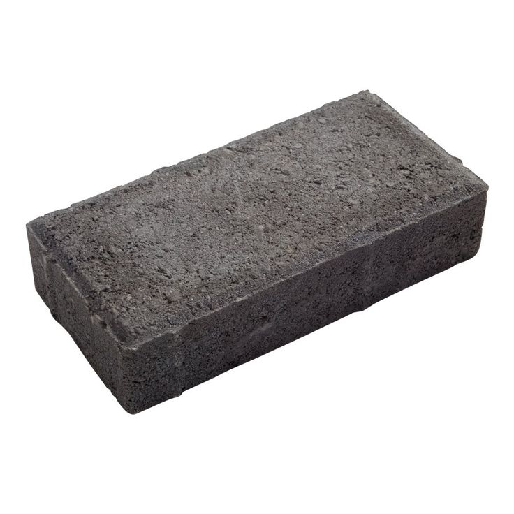 Oldcastle 4-in L x 8-in W Charcoal Rectangular Paver - Lowe's Canada