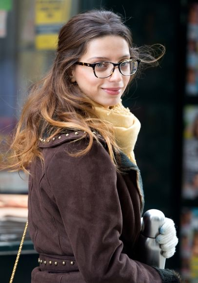 Angela Sarafyan seen on set of Paranoia in Philadelphia, PA