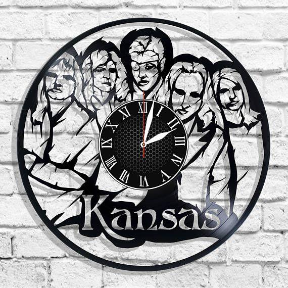Kansas rock band design wall clock Kansas wall poster