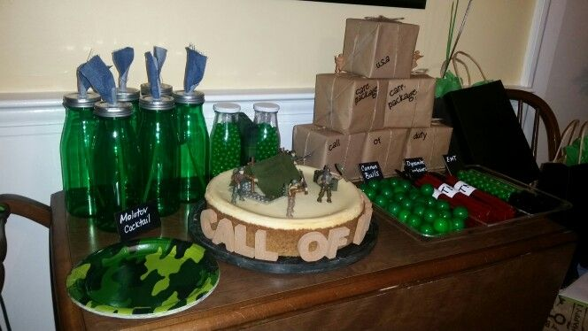 Army decorations call of duty birthday pinterest for Army decoration ideas