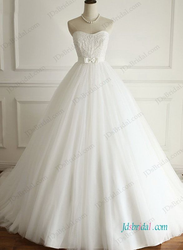 01f34f3af4ce H0950 Beautiful strapless tulle ball gown wedding dress | Ball Gown ...