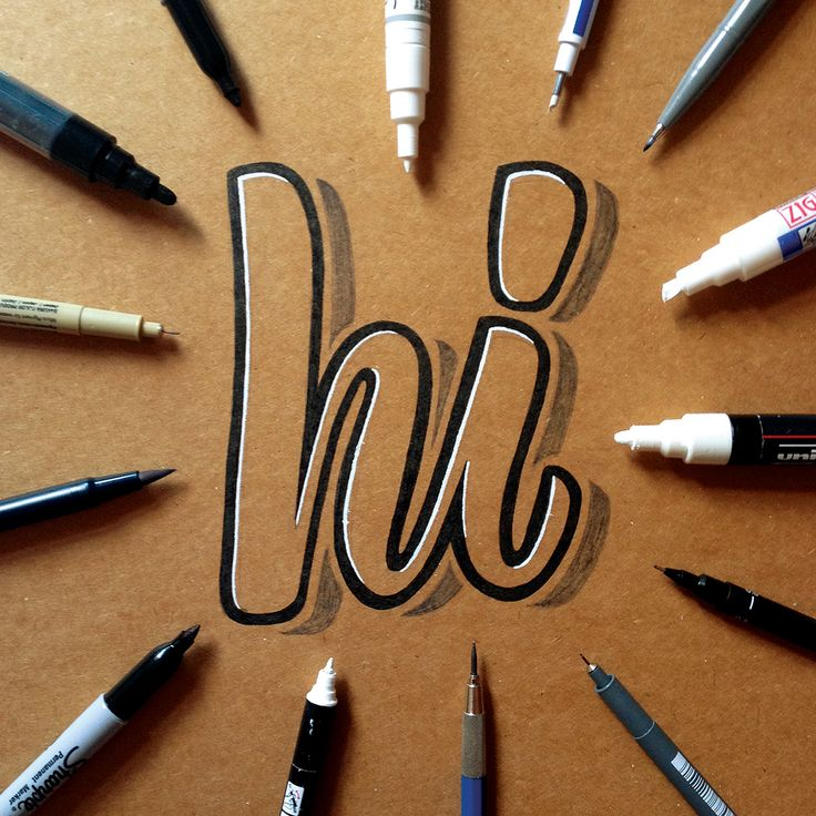 hand lettering on kraft paper 2 by  James Lewis /  Ligature Collective