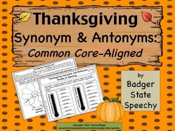 "Free!  Teach grades 4-8 to get beyond using just the word ""thankful"" by exploring new synonyms and antonyms for the words ""thankful"" and ""thankless!"""
