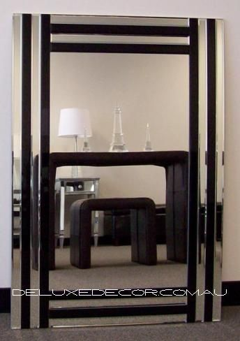 Bevelled Mirror Rectangle Modern Art Deco Wall Mirror 4543A (900 x 700mm) http://deluxedecor.com.au/products-page/wall-mirrors/bevelled-frameless-rectangle-mordern-art-deco-wall-mirror-4543a-900-x-700-mm/