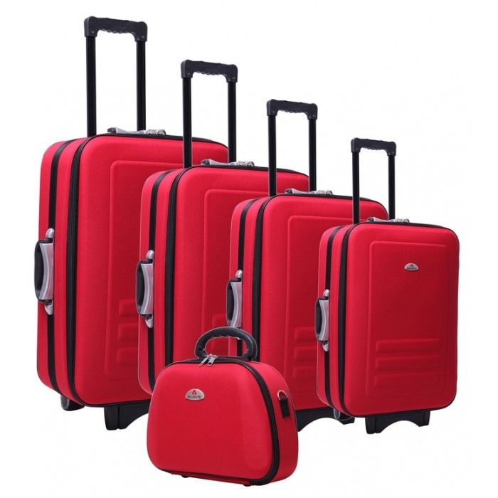 5pc Luggage Set - Red
