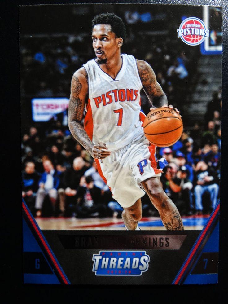 2015-16 Panini Threads #133 Brandon Jennings Detroit Pistons Basketball Card #DetroitPistons