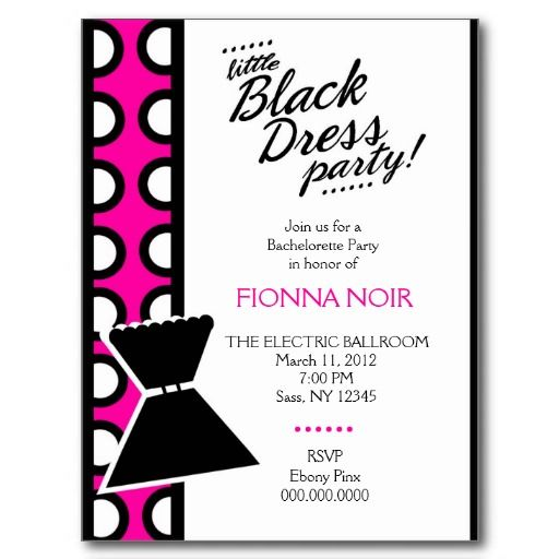 23 best Little Black Dress Girls Night Out images – Little Black Dress Bachelorette Party Invitations