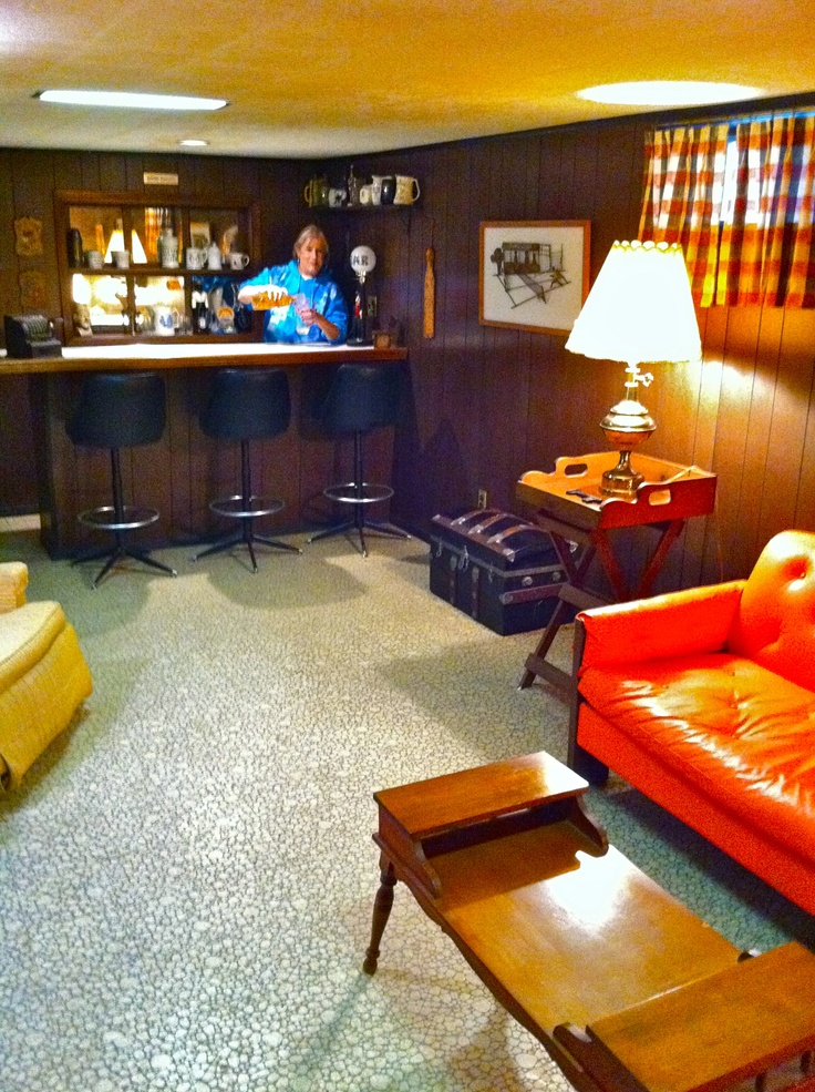 17 best images about the rumpus room on pinterest for Retro basement ideas