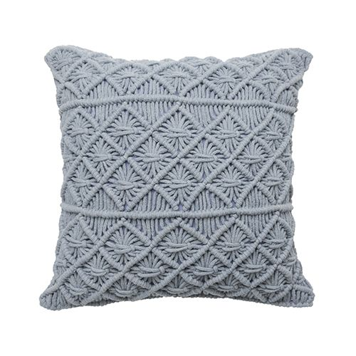 Macrame Cushion Dusty Blue