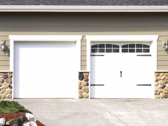 Garage door makeover with accessories from Coach House Accents