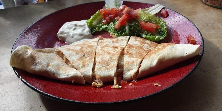Quesadilla - Knallgod quesadilla med kylling og bacon!