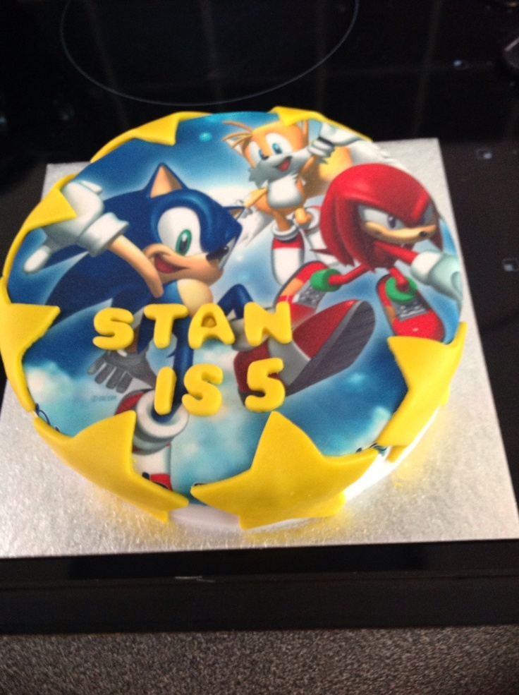 17 Best Images About Sonic Cake Ideas On Pinterest